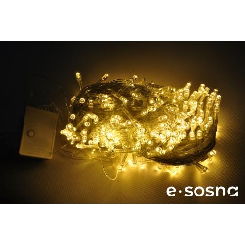 Гирлянда 300 LED 15 м белый теплый